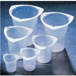 25384-156 400mL TriPour Beaker, cs /100 Polypropylene