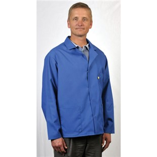 Tech Wear 361ACS-M ESD-Safe Short Coat, Blue, Size Medium