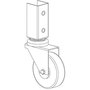 "Production Basics 8971 4"" Locking RTW Table Casters, 4/Set"