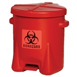 Eagle 943BIO Polyethylene Biohazardous Waste Can, 6 Gallon