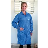 Tech Wear LOC-23C-S ESD-Safe Coat, BLue, Small