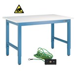 "IAC Industries QS-1006002-D Work Bench with ESD-Safe Top, 30"" D x 60"" L"
