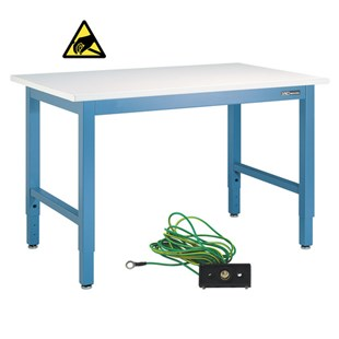 """IAC Industries QS-1006013-D Work Bench with ESD-Safe Top, 36"""" D x 72"""" L"""