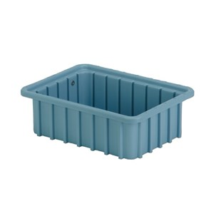 "Lewis Bins DC1035 Divider Tote Box, Light Blue, OD 10.8"" x 8.3"" x 3.5"""