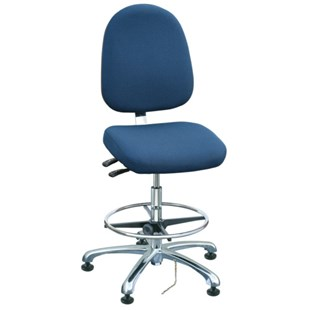 """Bevco 9351L-E Integra Series Ergonomic Static-Safe Chair w/Tilt Seat and Large Back, Navy Blue Fabric, 19"""" - 28-1/2"""""""