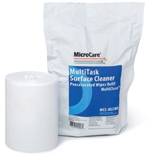 MicroCare MCC-MLCWR Refill for MCC-MLCW MultiTask Surface Cleaner 70/30 Presaturated Wipes, 100/Pkg