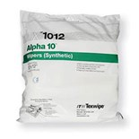 "Texwipe TX1012 Alpha 10 Premium Polyester Sealed Border Wipes, 12"" x 12"", 100 Wipes/Double Bag"
