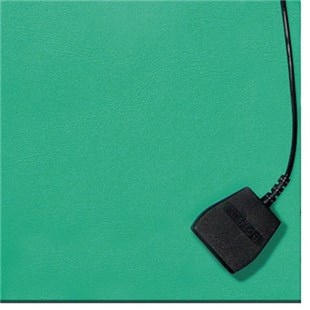 Techni-Stat 758ST654 Two-Layer Static-Dissipative Rubber Bench Mat, Green, 2.5' x 3'