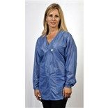 Tech Wear VOJ-23 ESD-Safe V-Neck Jacket, Medium