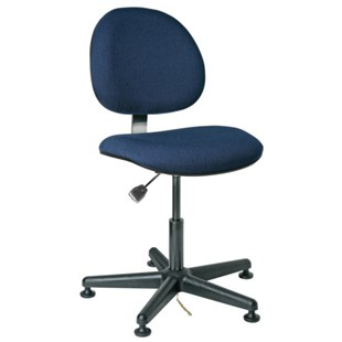 """Bevco V800SMG ESD-Safe Upholstered Chair with Glides, 16"""" - 21"""""""