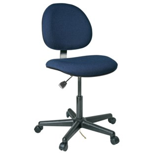 """Bevco V800SHC ESD-Safe Upholstered Chair with Hard Floor Carsters, 17"""" - 22"""""""