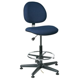 "Bevco V850SMG ESD-Safe Upholstered Chair with Glides, 23"" - 33"""