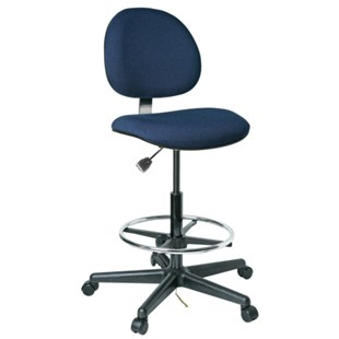 "Bevco V850SHC ESD-Safe Upholstered Chair with Hard Floor Casters, 24"" - 34"""