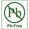 "Brady PB-1-.5-GR PB Free (Lead-Free) Label, Green Text on White, 0.9"" W x 1.0"" H, 500/Roll"