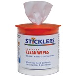 Sticklers MCC-WFW Benchtop CleanWipes™ for Fiber Optics, 90/Tub