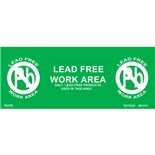 "Botron B67410 Lead-Free Wall Awareness Sign (10/Pkg.), 4"" x 10"""