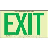 Brady 87808 BradyGlo™ Exit Sign - Green Letters