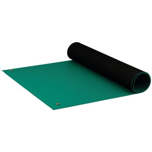 "ACL 8185GM2436 Dualmat™ Rubber Table Mat, Green, 24"" x 36"""
