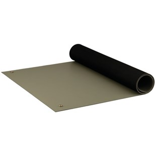 "ACL 8385DGYM2460 Dualmat™ Rubber Table Mat, Gray, 24"" x 60"""