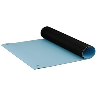 "ACL 8085BM3060 Dualmat™ Rubber Table Mat, Light Blue, 30"" x 60"""