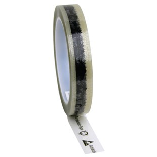 "Desco 79210 Antistatic Cellulose Tape, Clear with ESD Symbols, 3/4"" W x 72 Yards with 3"" Core"