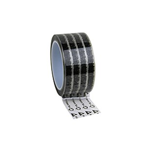 """Desco 79212 Antistatic Cellulose Tape, Clear with ESD Symbols, 2"""" W x 72 Yards with 3"""" Core"""