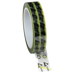 "Desco 79277 Antistatic Cellulose Tape, Clear with ESD Symbols and Yellow Stripe, 1"" W x 72 Yards with 3"" Core"