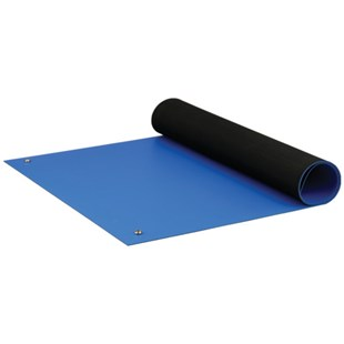 "ACL 8285BM2472 Dualmat™ Rubber Table Mat, Royal Blue, 24"" x 72"""