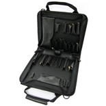Jensen Tools J4214JTBLR1 Black Ballistic Case with black leather trim