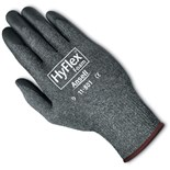 Ansell-Edmont 11-801-7 HyFlex® Assembly Gloves with Nitrile Grip, Gray/Black, Small, 12 Pair/Pkg