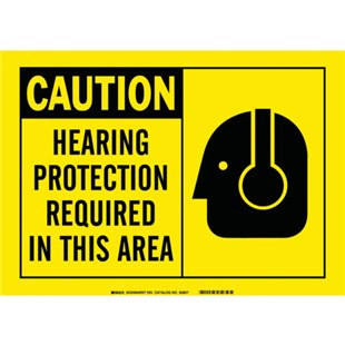Brady 26570 Hearing Protection Alert Sign