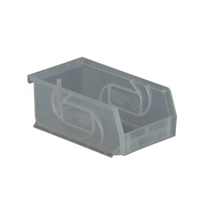 "Lewis Bins PB74-3 Clear Parts Bins-OD 7-3/8"" x 4-1/8"" x3"", 24/Case"