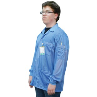Desco 73750 ESD-Safe Jacket with Cuffs, Small