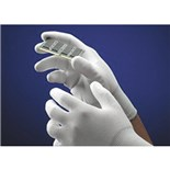 QRP PDNY SMALL Qualakote® Nylon/Palm Coated Gloves, White with White Poly Grip, Small, 12 Pairs/Bag