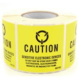 """Techni-Stat 758ST032 2""""X2"""" Caution Labels Old MIL Standare, 500/Roll"""