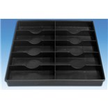 """Fancort MS-Q14.1 ESD-Safe Tray with 8 Cells (6.72"""" x 2.52"""" x 1.12"""")"""
