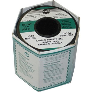 Kester 2495747613 Solder Wire, No Clean, Lead Free, K100LD, 3.3%, 0.050 in (1.27 mm), 275 Series
