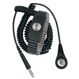 Desco 09188 MagSnap Metal Wrist Strap with 12' Coil Cord