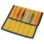 Aven 18480EZ E-Z Pick Color Coded Tweezer Set