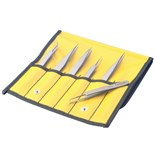 Aven 18480TT 6-Piece Titanium Tweezer Set