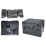 "Jensen Tools 445-334 10"" Deep Roto rugged HD case with JTK-88 pallets"