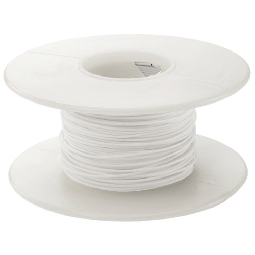 Alpha Wire 3079-1 Hookup Wire 14AWG White PVC (41/30) 100\' Spool ...