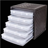 """Flambeau 8500ST Storage Cabinet with Five T-900 Boxes with Dividers, 15 1/4"""" x 14 3/4"""" x 16"""""""