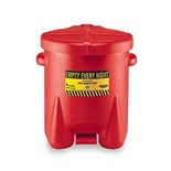 Eagle 937-FL Polyethylene Oily Waste Can, 14 Gallons