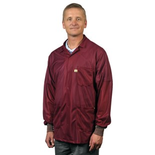 Tech Wear LOJ-33C Groundable ESD-Safe Jacket with Cuffs, 3X-Large