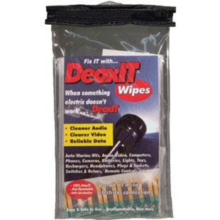 Caig Labs K-DG1W-50 DeoxIT® D-Series Contact Cleaner Wipes, 50 Individual Wipes/Pkg