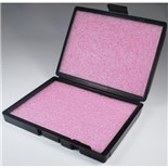 "Conductive Containers Inc. 50014 Conductive Box with Pink Antistatic Foam, 9"" x 7"""