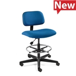 "Bevco 4500-F-3850S/5 Fabric Chair, Non-Tilt, Nylon Base, Chrome Footring, HF Casters, Adj. 23.5""-33.5"", Westmound Series"