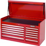 """Proto J444119-12RD 440SS Tool Chest with 12 Drawers and Liners, 41"""" L x 18"""" D x 19"""" H"""