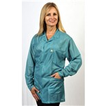 Tech Wear LOJ-83-L LARGE TEAL ESD SAFE JACKET W/3 POCKETS